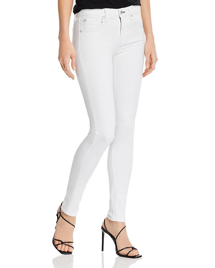 rag & bone - Cate Mid-Rise Skinny Jeans in White