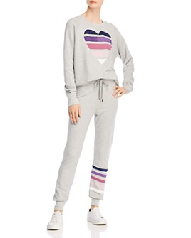 Sundry - Heart Sweatshirt & Striped Jogger Pants - 100% Exclusive