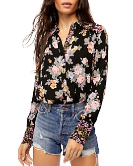 Free People - Hold On To Me Floral Print Blouse
