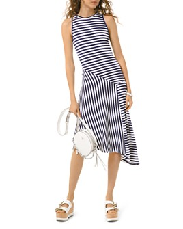 MICHAEL Michael Kors - Striped Panel Dress