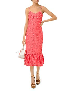 MICHAEL Michael Kors - Floral-Lace Slip Dress