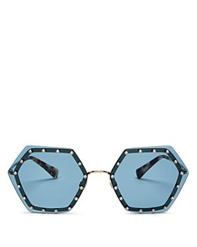 Valentino - Women's Rimless Embellished Geometric Sunglasses, 62mm