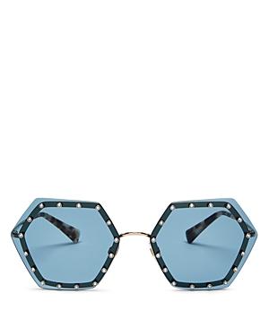 Valentino Women\\\'s Rimless Embellished Geometric Sunglasses, 62mm-Jewelry & Accessories