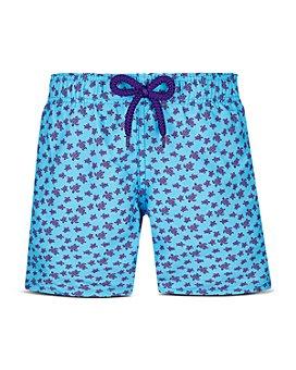 Vilebrequin - Boys' Micro Turtle Print Swim Trunks - Little Kid, Big Kid