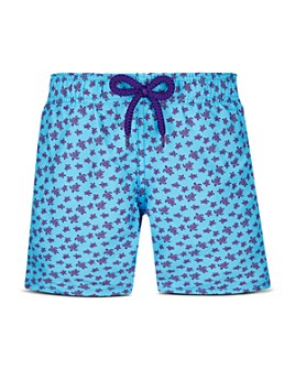 Vilebrequin - Boys' Micro Turtle Print Swim Trunks - Little Kid, Big Kid