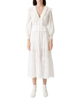 Maje - Roxana Lace-Embroidered Midi Dress
