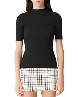 Maje - Manu Back-Cut-Out Ribbed Sweater