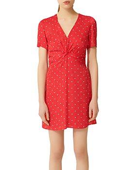 Maje - Ripia Polka-Dot Mini Dress