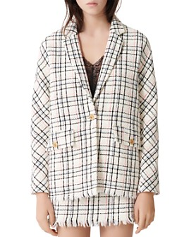 Maje - Vianey Oversized Tweed Blazer
