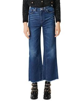 Maje - Pamier Cropped Wide-Leg Jeans