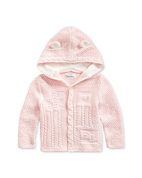 Ralph Lauren - Unisex Combed Cotton Hooded Cardigan - Baby