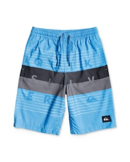 Quiksilver - Boys' Color-Blocked Volley Swim Trunks - Big Kid