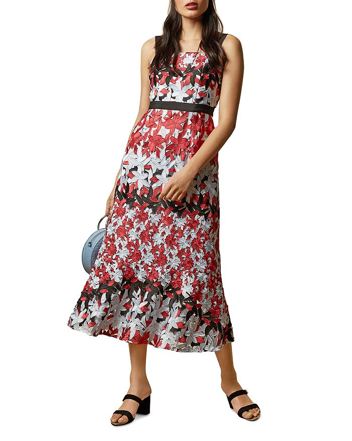 Ted Baker Dresses TELILY PRINTED LACE MIDI DRESS
