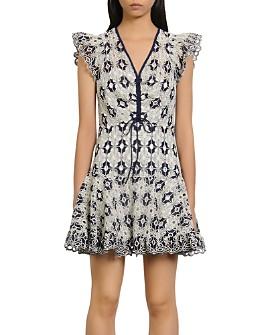 Sandro - Elie Eyelet-Lace Mini Dress