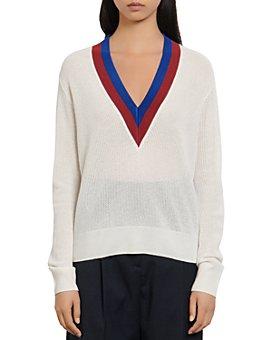Sandro - Shena Varsity-Style Sweater