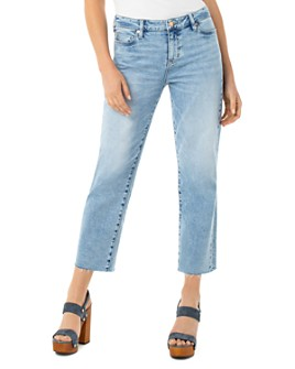 Liverpool Los Angeles - Cropped Frayed-Hem Straight Jeans in Dixie
