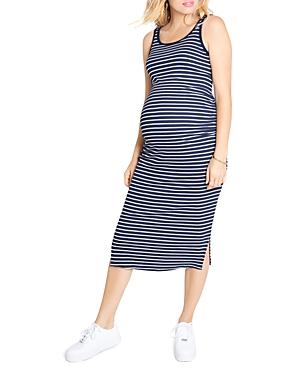Ribbed Tank Midi Maternity Dress
