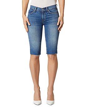 Hudson - Amelia Cutoff Denim Bermuda Shorts in True Colors