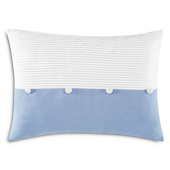 "Charisma - Settee Pleated Decorative Pillow, 14"" x 20"""
