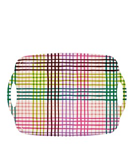 kate spade new york - Rainbow Gingham Melamine Serving Tray