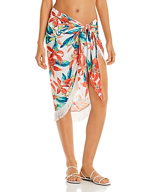 Vince Camuto Fringe Printed Pareo Swim Cover-Up-Women