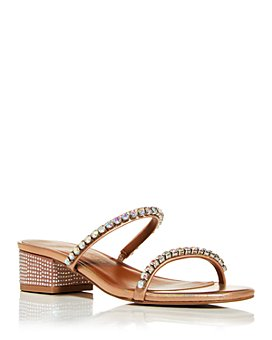 KURT GEIGER LONDON - Women's Priya Crystal Block-Heel Sandals