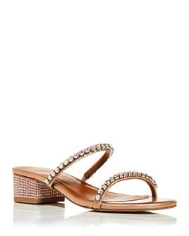 KURT GEIGER LONDON - Women's Priya Crystal Block-Heel Sandals