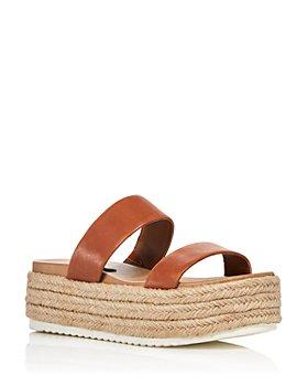 AQUA - Women's Ayden Platform Espadrille Slide Sandals - 100% Exclusive
