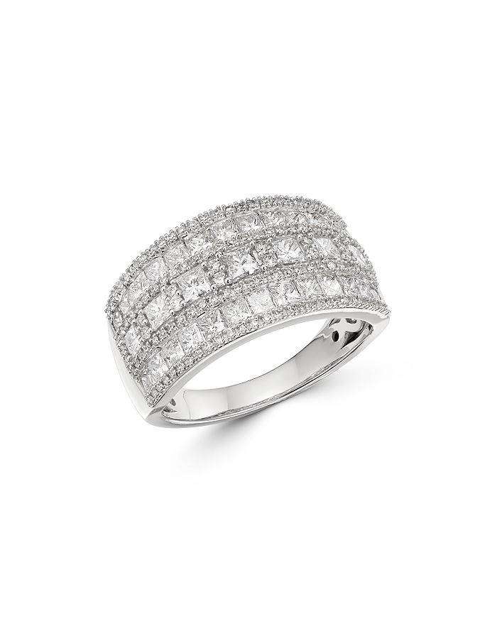 Bloomingdale's - Diamond Multi-Row Band in 14K White Gold, 2.0 ct. t.w. - 100% Exclusive