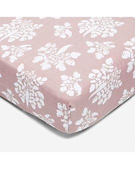 Lewis Home - Inverse Parsnip Cotton Crib Sheet