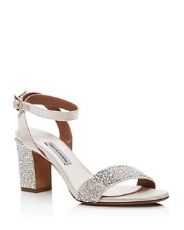 Tabitha Simmons - Women's Leticia Swarovski Crystal Block-Heel Sandals