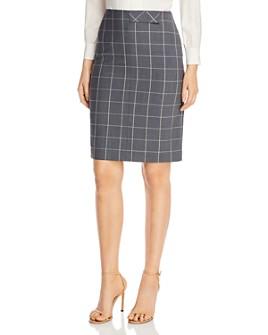 BOSS - Vensina Plaid Pencil Skirt