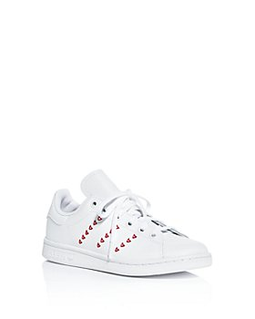 Adidas - Girls' Stan Smith Heart Leather Low-Top Sneakers - Walker, Toddler, Little Kid, Big Kid