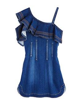 Habitual Kids - Girls' Stevie Ruffle Denim Dress