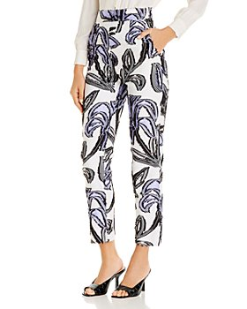 PAULE KA - Floral-Print Jacquard Trousers