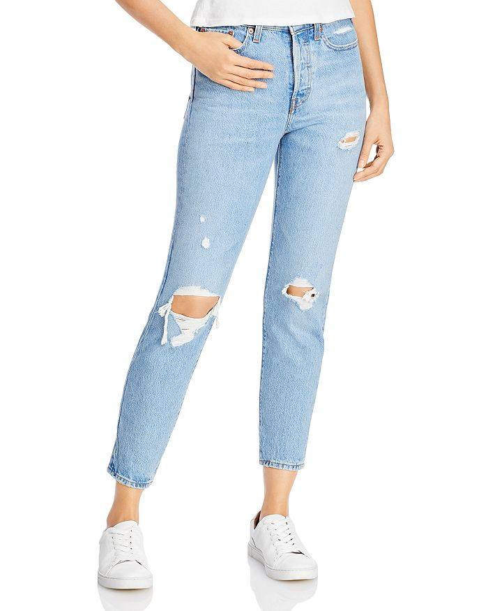 Levi's - Wedgie Icon Ripped Slim Ankle Jeans in Authentically Yours