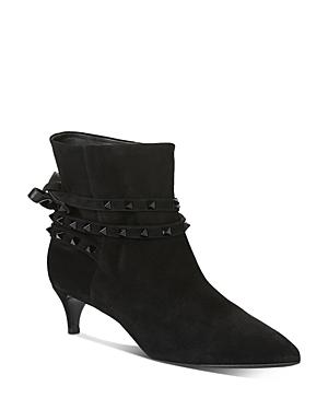 Valentino Garavani Women\\\'s Studded Strap Kitten-Heel Booties