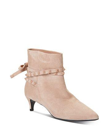 Valentino Garavani - Women's Rockstud Flair Studded Strap Kitten-Heel Booties