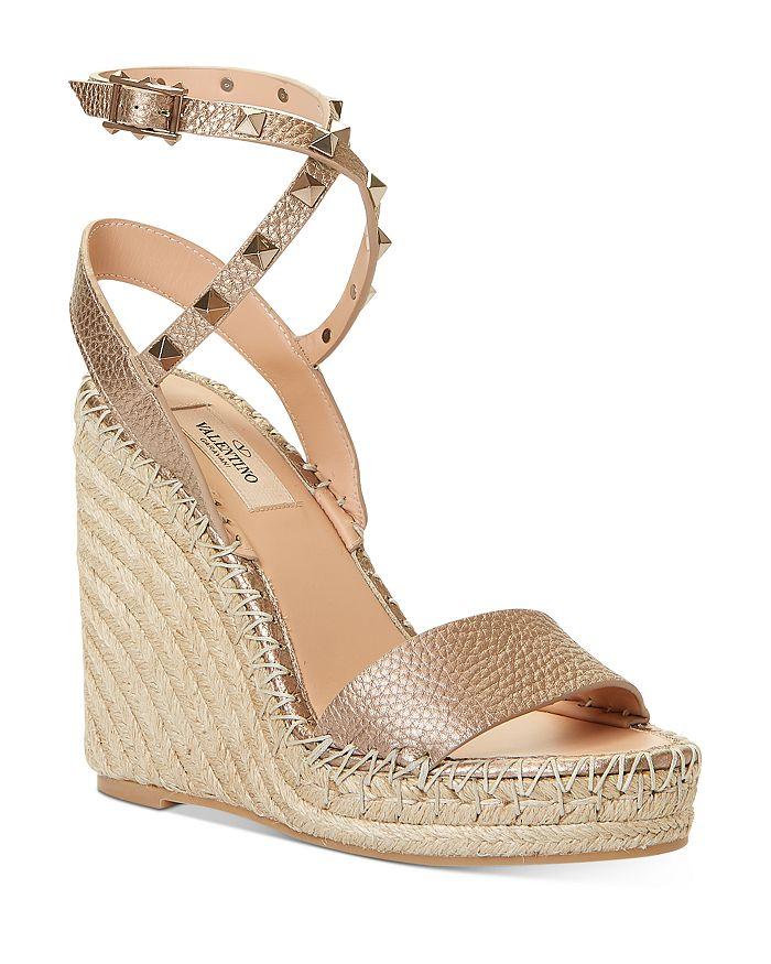 Valentino Garavani - Women's Rockstud Double Espadrille Wedge Sandals