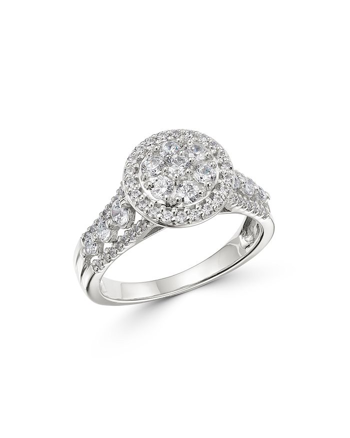 Bloomingdale's - Diamond Cluster Ring in 14K White Gold, 1.0 ct. t.w. - 100% Exclusive
