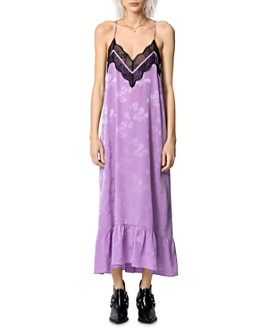 Zadig & Voltaire - Revel Lace-Trim Silk Slip Dress