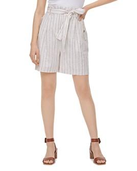 Calvin Klein - Striped Linen-Blend Shorts