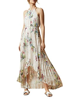 Ted Baker - Ted Baker Threlin Pergola Print Pleated High/Low Dress