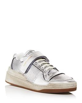 Saint Laurent - Women's Distressed Low-Top Sneakers
