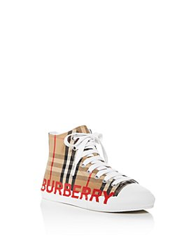 Burberry - Unisex Mini Larkhall Check High-Top Sneakers - Toddler, Little Kid