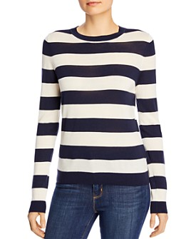 BOSS - Fecilia Striped Wool Knit Top