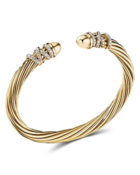 David Yurman - Helena End Station Bracelet with Diamonds and 18K Gold