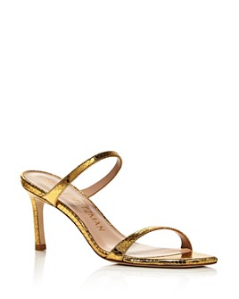 Stuart Weitzman - Women's Aleena 75 Slip On Mid-Heel Sandals