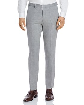 HUGO - Hesten Textured Solid Extra Slim Fit Suit Pants