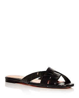 Ted Baker - Women's Croc-Embossed Slide Sandals